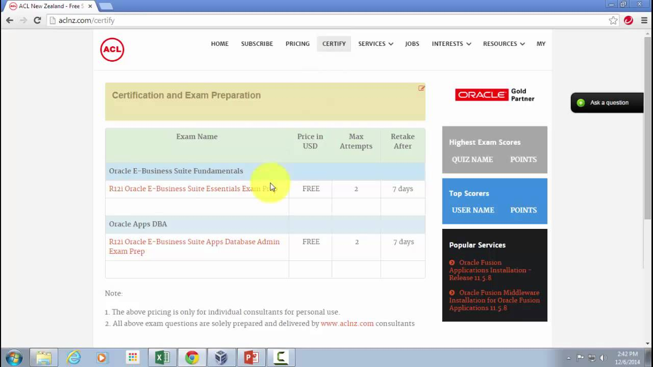 Free Sample Exams For Oracle Certification Preparation Youtube