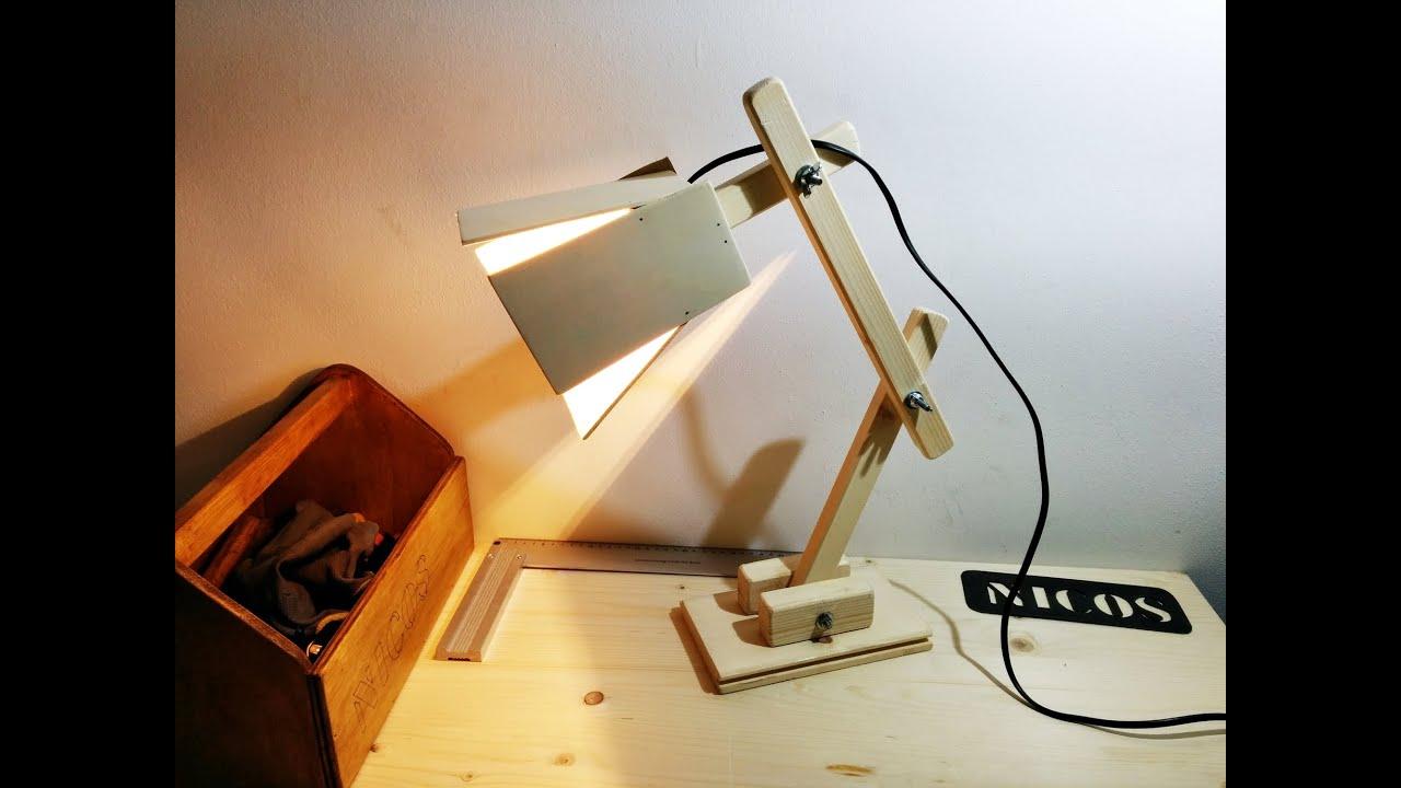 Costruire una lampada da tavolo fai da te youtube - Parete in legno fai da te ...