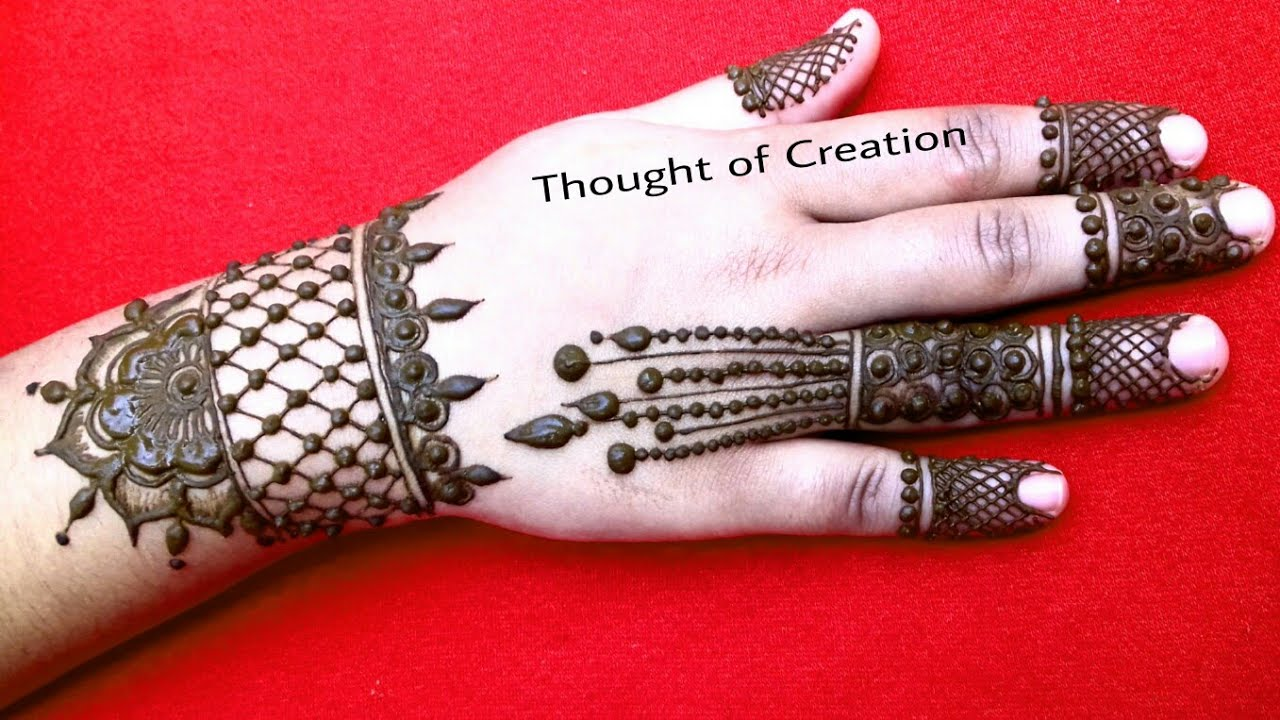 New Stylish Jewellery Mehndi Design 2018 New Creation Thought Of