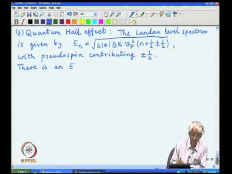 Mod-01 Lec-17 Dirac equation structure of low energy graphene states,