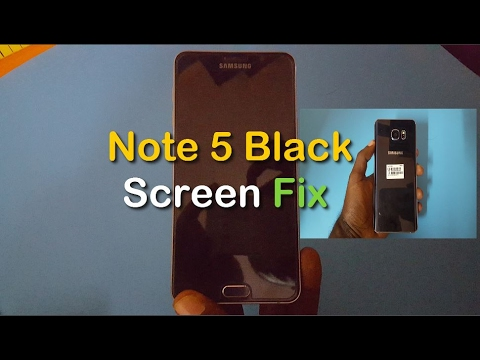 how to turn off note 5 with black screen