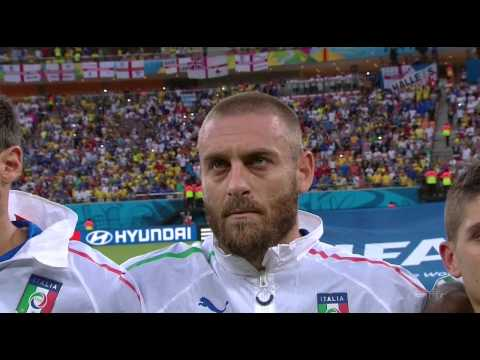 World Cup 2014 National Anthems England vs Italy