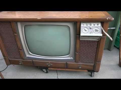 1966 Color Console Admiral tv evaluation and check out, w Shango066