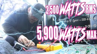 HOW MUCH CAN IT HANDLE?! first system test results, RMS, MAX and tuning FREQ tested - AMPLIFIED #722