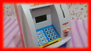 ATM Toy Machine and Coin Bank ♥ Toys World Video