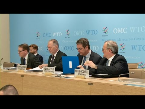 Press conference: WTO releases trade forecasts & 2015 figures