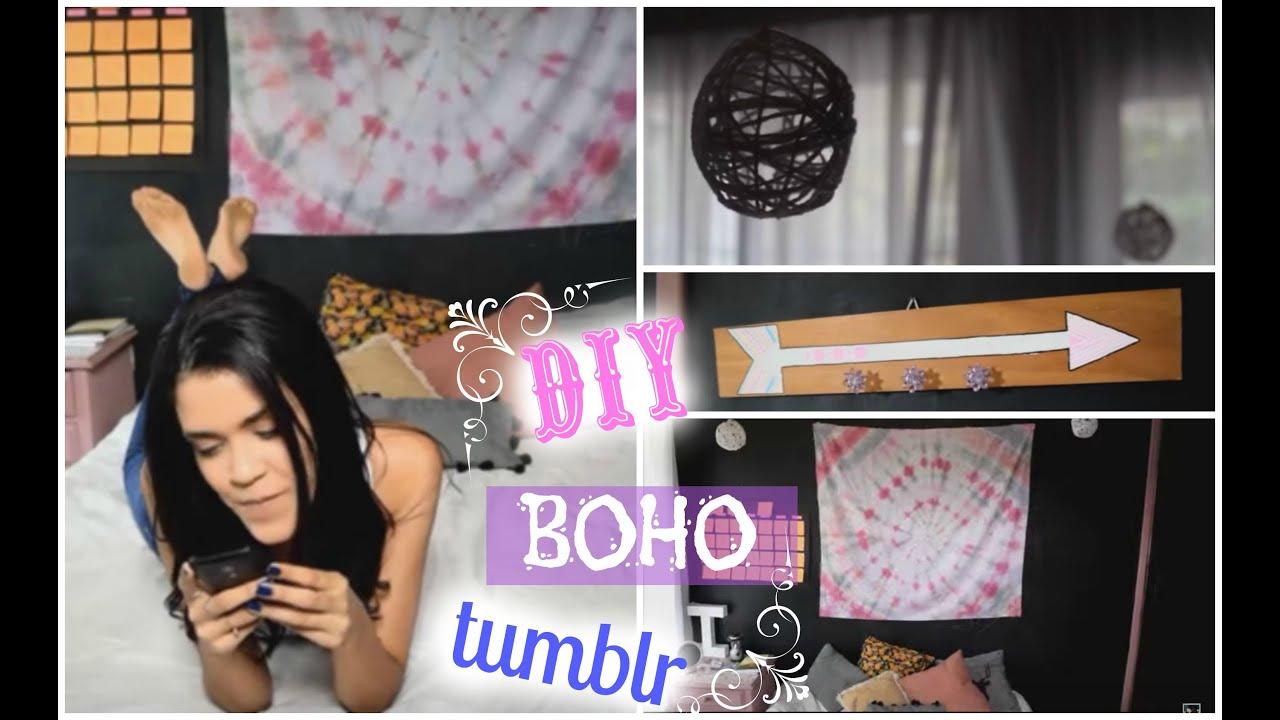 DIY Decoração BohoHippie Estilo Tumblr  YouTube