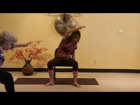 (1 Hr) Chair Yoga to Loosen up your Back! Stretching the Diamond with Sherry Zak Morris