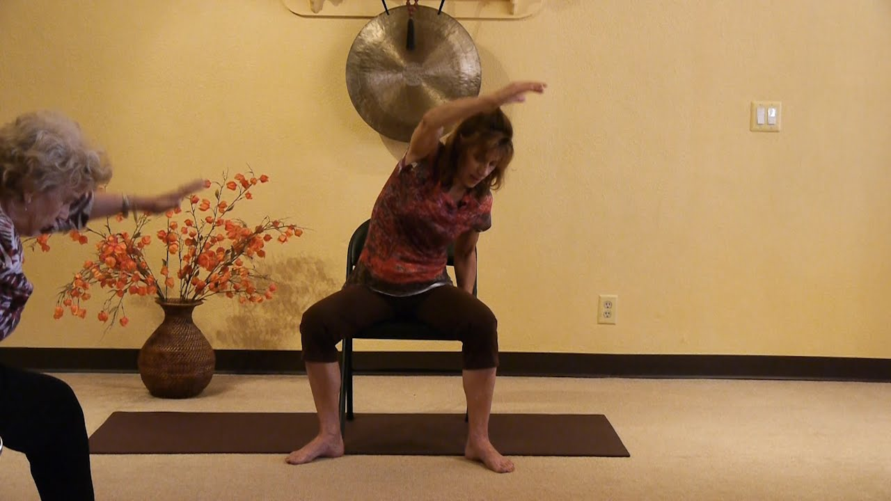 Youtube Chair Yoga Leather Sale 1 Hr To Loosen Up Your Back Stretching The Diamond With Sherry Zak Morris