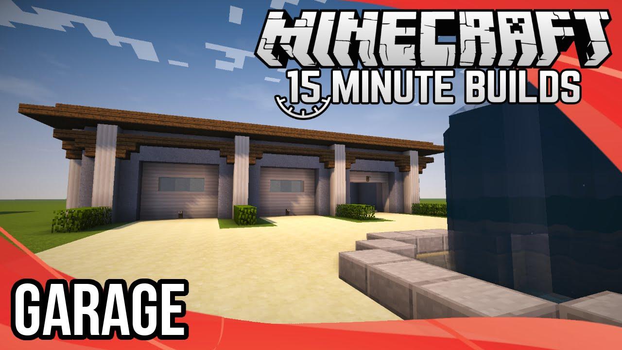 Minecraft 15 Minute Builds Garage Youtube