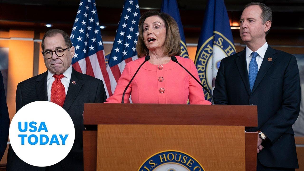 Trump Impeachment House Sends Senate Articles Against Trump For Trial