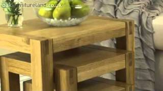 Alto Solid Oak Nest Of Tables From Oak Furniture Land