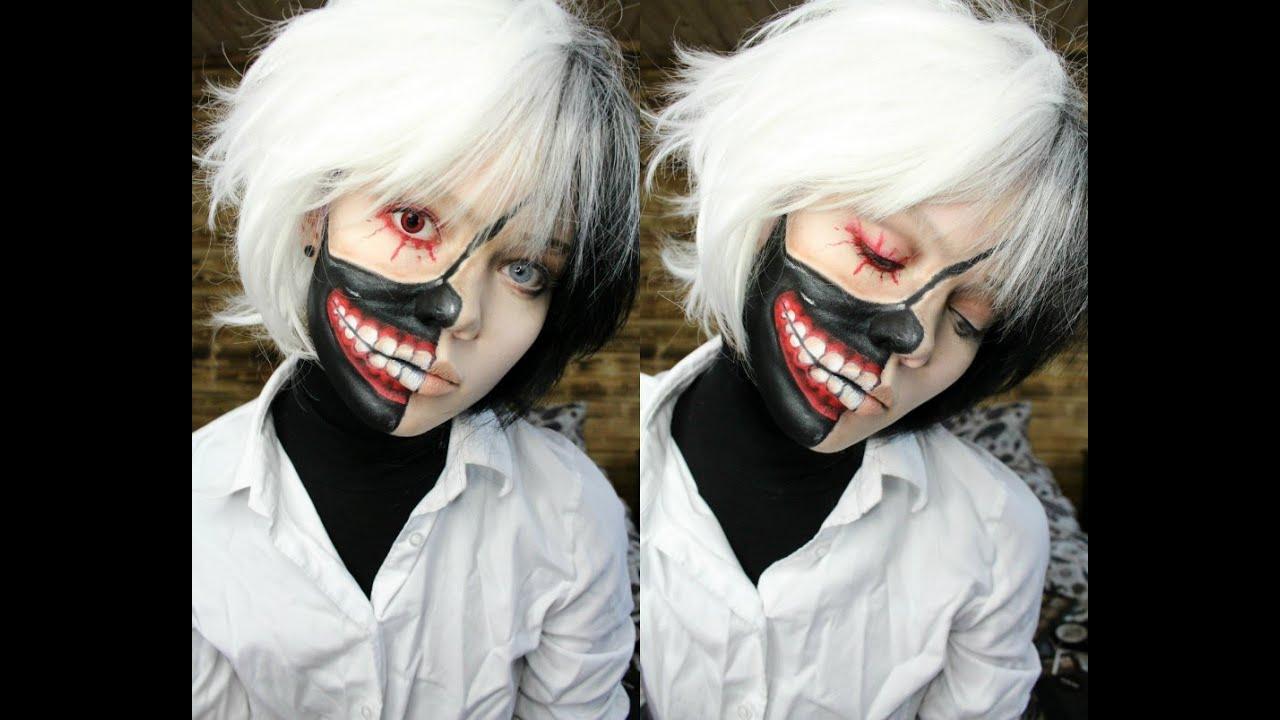Ken Kaneki - Tokyo Ghoul Makeup Tutorail - YouTube