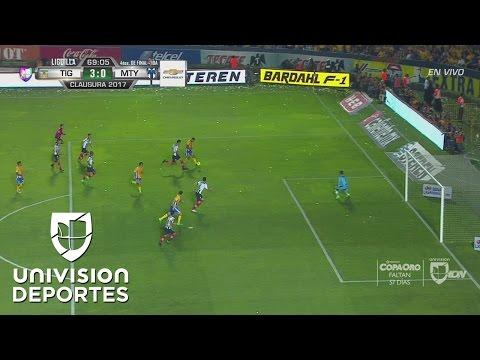 Gignac convirtió el 3-0, liquidó el partido de ida y casi la serie