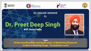 Learn From Leaders || Talk On Role and Application of Marketing Research at Idea to StartUp Stage