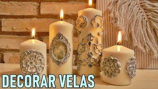 Cómo decorar velas con Masa de secado al aire. Trucos caseros de decoración