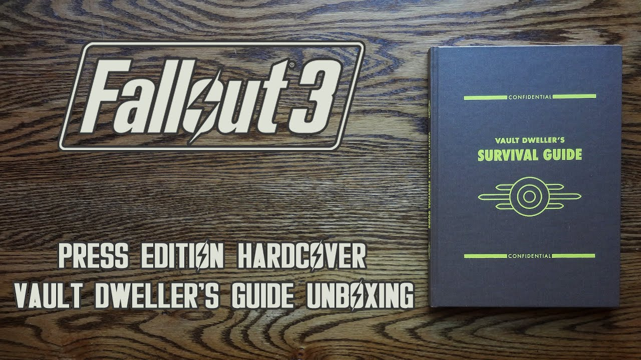 fallout 3 press edition hardcover vault dweller s survival guide