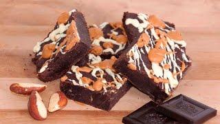 Flourless Dark Chocolate And Peanut Butter Brownies