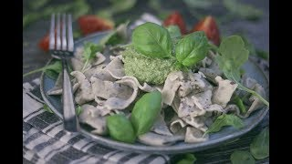 Chickpea Tagliatelle with Pesto | Vegan and Gluten Free
