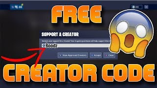 How To Get Your Own Free Fortnite Support A Creator Code 2019 (NOT CLICKBAIT)