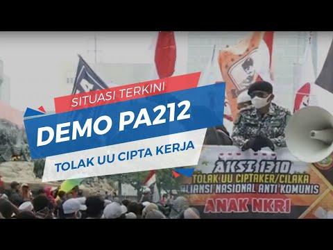 🔴 BREAKING NEWS - Situasi Terkini Demo PA 212 Tolak Omnibus Law Cipta Kerja
