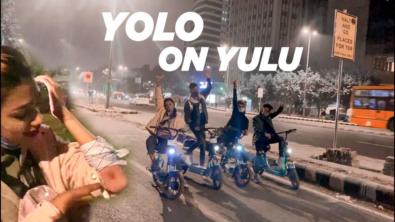 Download NIGHT RIDE ON YULU BIKE    MET WITH AN ACCIDENT 😱   VISHHUU
