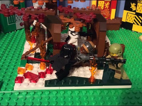 Lego Star Wars The Rise Of Skywalker Moc Kylo Ren S Assault In The Forest Youtube