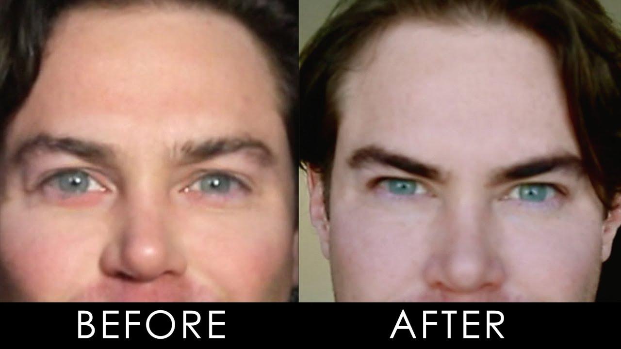 male eyebrow dyeing short