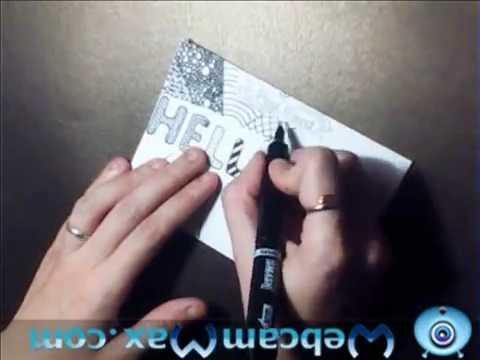 Postcrossing#1(оформление открытки фломастерами и ручками)