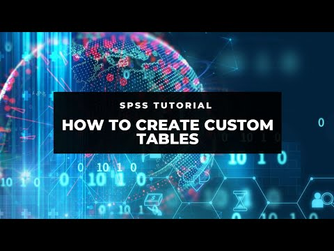 SPSS Tutorial: How to create custom tables