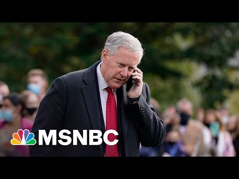 Report: Mark Meadows Pushed DOJ To Probe Election Fraud Claims