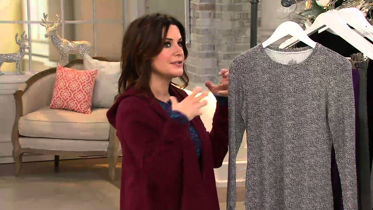cuddl duds softwear stretch long sleeve crew neck shirt on qvc