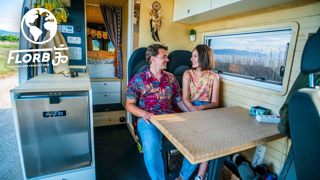 DIY Van Conversion w/ Indoor Shower & Guest Bed