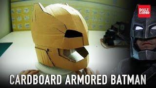 #115.1: Armored Batman Mech Suit Helmet Pt.1 - Cardboard (free download) Costume How To | Dali DIY