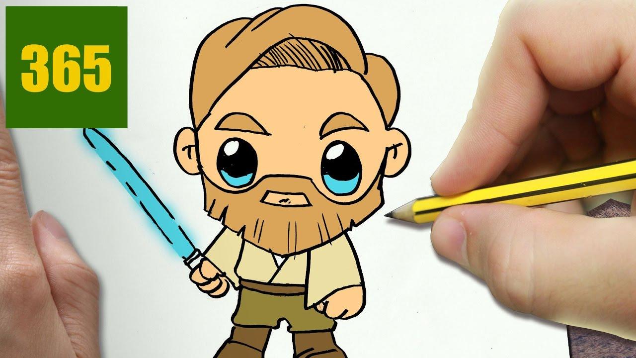 Comment dessiner obi wan kenobi kawaii tape par tape - Comment dessiner une star ...