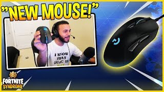 HAMLINZ GETS A NEW MOUSE AND FIRST THING THAT HAPPENED... - Fortnite Moments #161