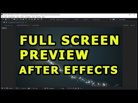 Full Screen Preview in After Effects [ Windows & Mac ]