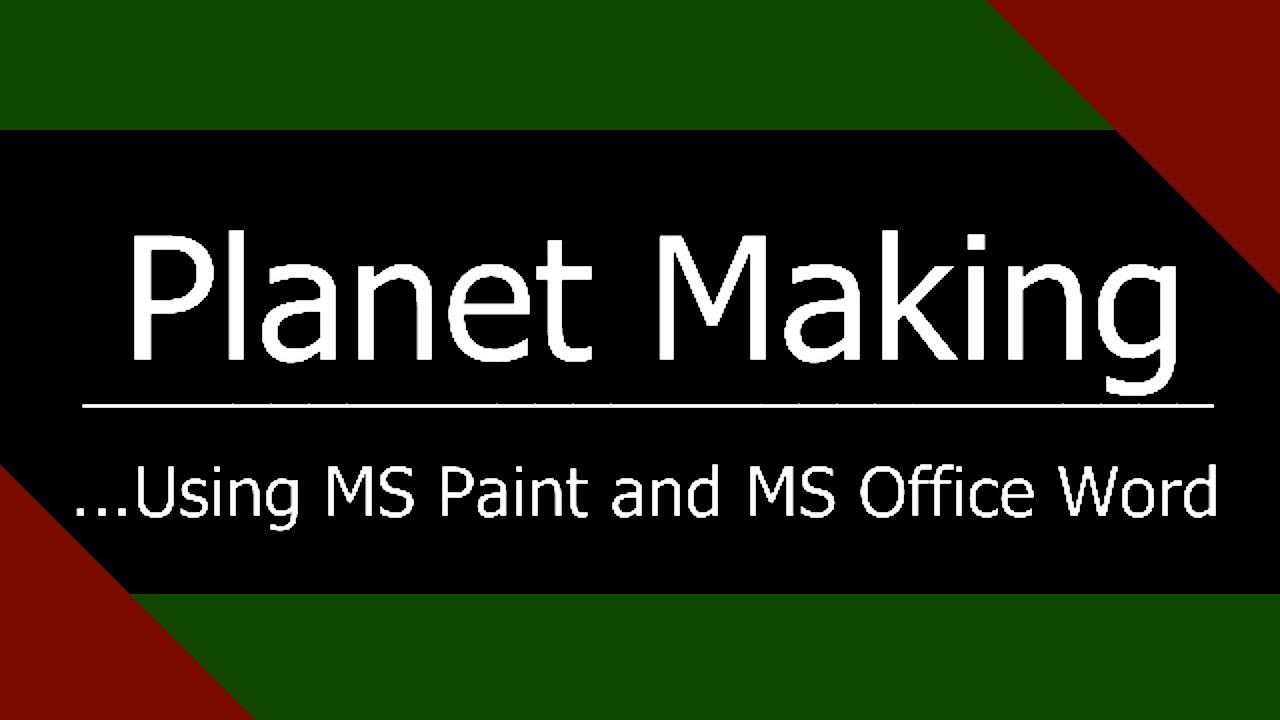 Making a Planet With Microsoft Word and MS Paint - Kopernicus Speedart 2
