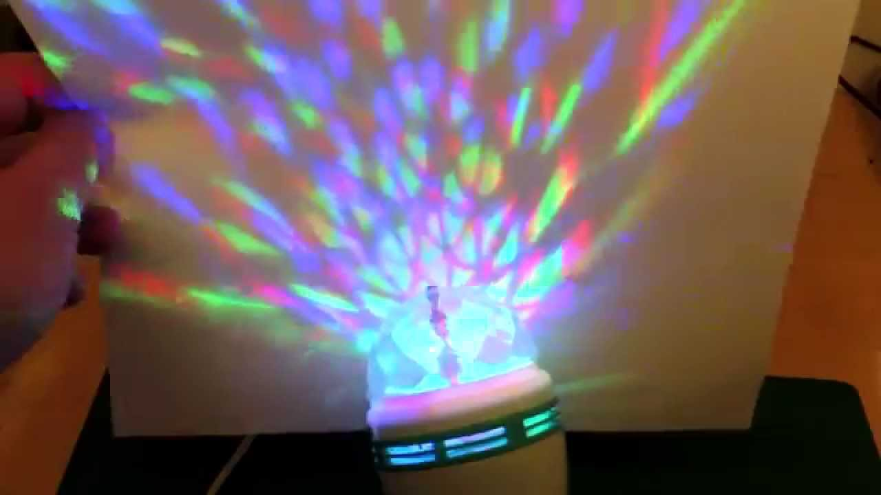 Color Rotating Led Disco Party Bulb Youtube