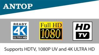 Antop AT-100B Paper Thin HDTV Amplified Indoor Antenna