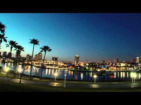 Long Beach at Night Time Lapse