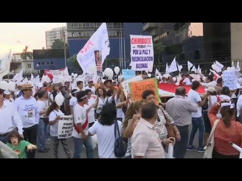 Manifestación en favor de Alberto Fujimori en Lima