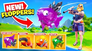 *NEW* FLOPPERS are INSANE in Fortnite! (FISHING UPDATE LEAK) YouTube Videos