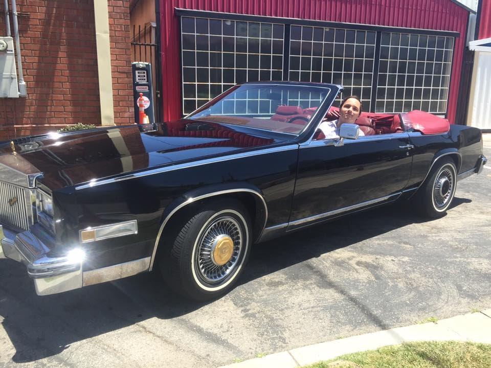 Riding In A 1985 Cadillac Eldorado Convertible