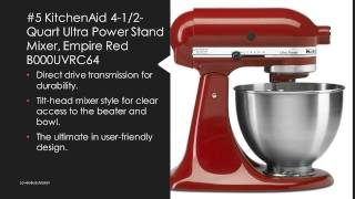 Top 10 Mixers - Best Durable Stand Mixer Reviews - Top 10 Home Kitchen Stand Mixer for Cakes