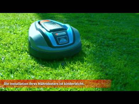 gardena m hroboter installation youtube. Black Bedroom Furniture Sets. Home Design Ideas