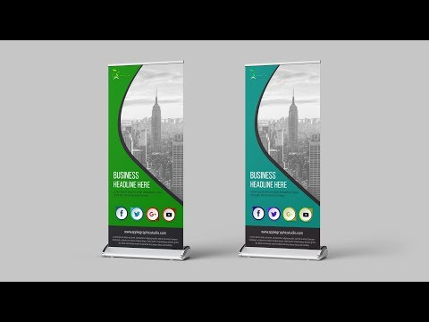 Business Roll Up Banner Design - Photoshop CC Tutorial