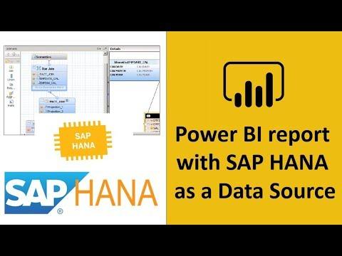 Power BI with SAP HANA as a data source | SAP HANA Power BI connector