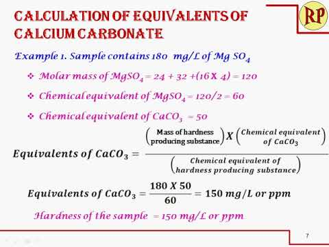 Easy Method To Calculate Hardness As Equivalents Of CaCO3 Hardness Of Water
