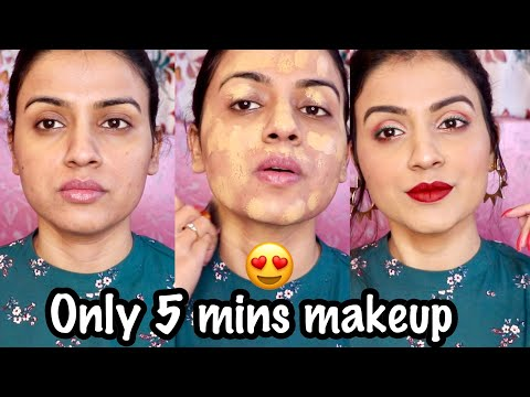 EASY WINTER MAKEUP TUTORIAL | Christmas Makeup Look | Easy Winter Glam Makeup India Only 5 Mintues